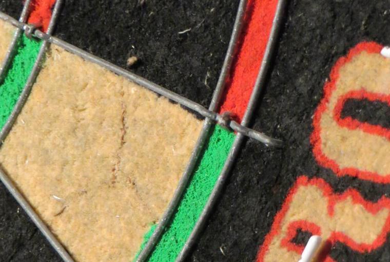 The full size dart board