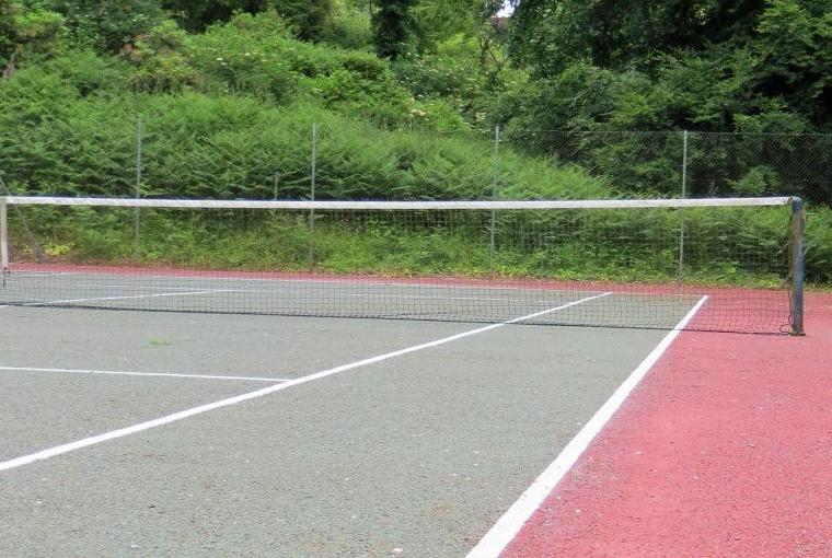 The full size tennis court