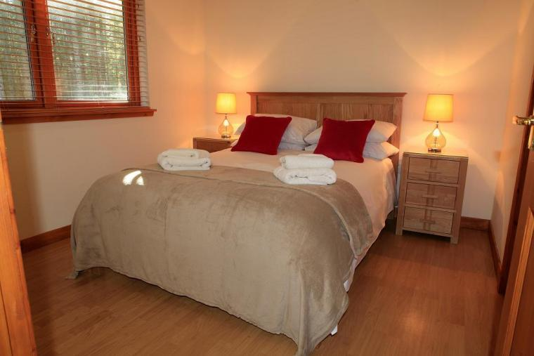 Double bedroom with organic fairtrade bedlinen