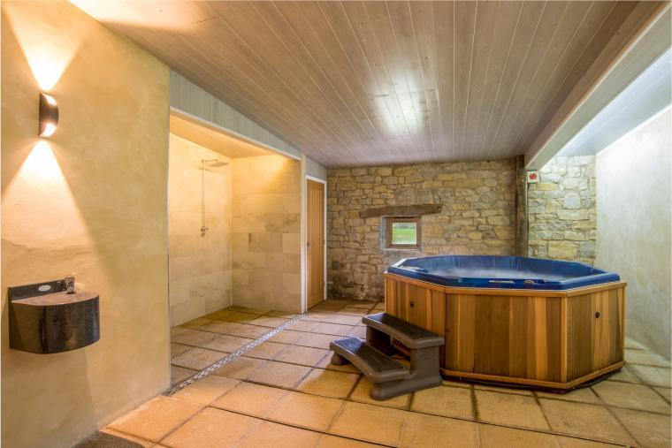 Spa adjoining the converted barns