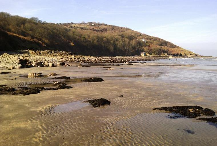 Poppit Beach in Winter
