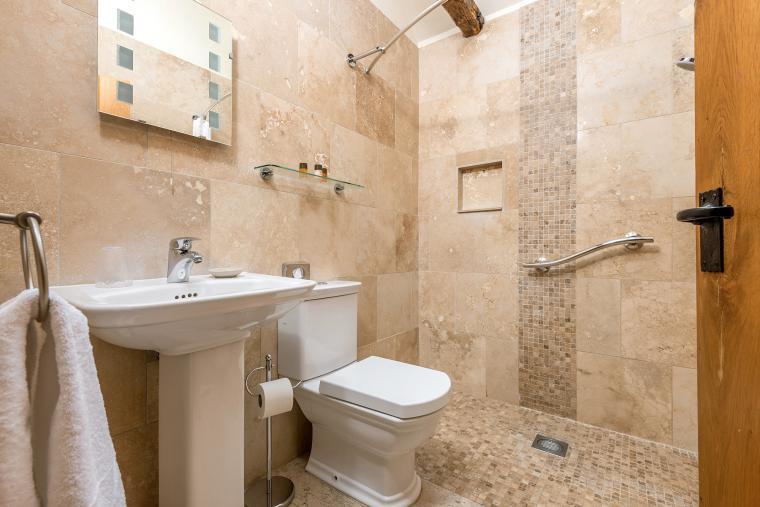 tiled wet room