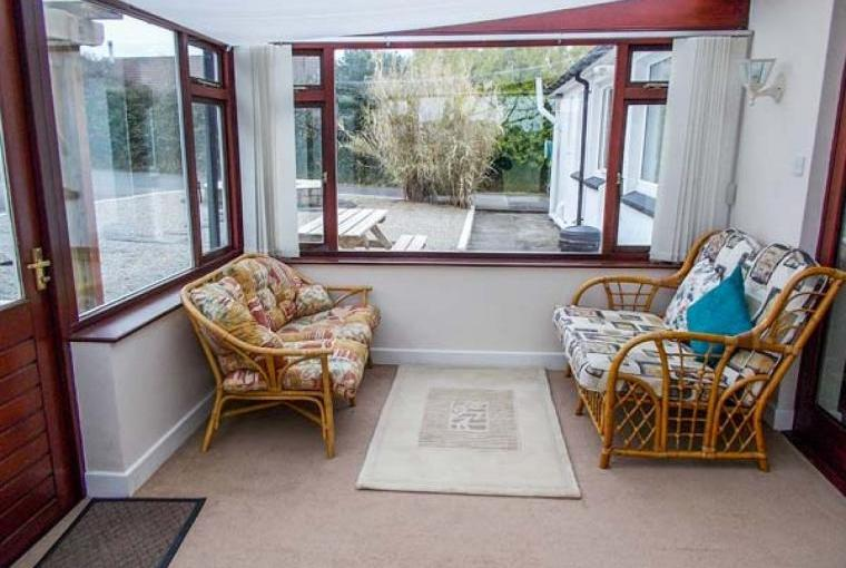 Conservatory with dining area
