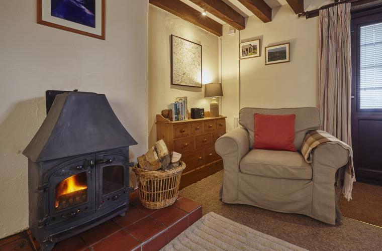 Wood burner stove for extra cosiness
