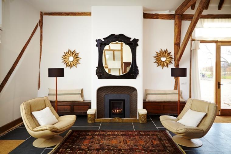 Alfred's Barn @ Grove Farm - fireplace