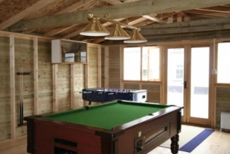 Self-catering country cottages with games room