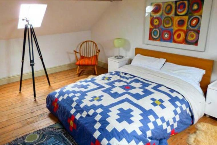 Comfy bedroom, Raceside Farmhouse, Cumbria