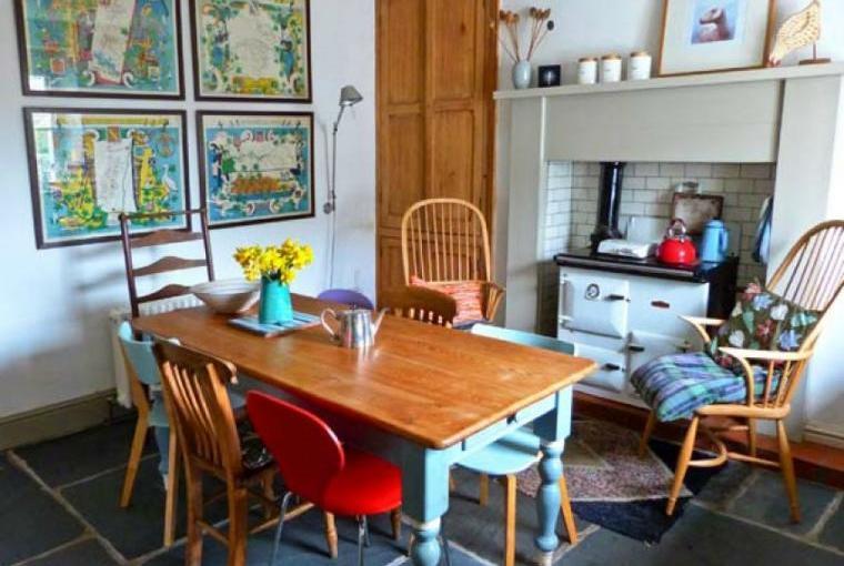 Dining area, Raceside Farmhouse, Cumbria