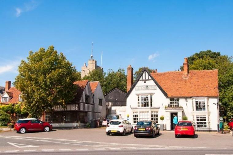 The pretty village of Cavendish in Suffolk