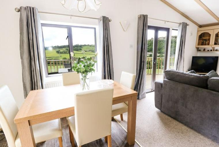 Open plan living area, Springtime Lodge near Abergele
