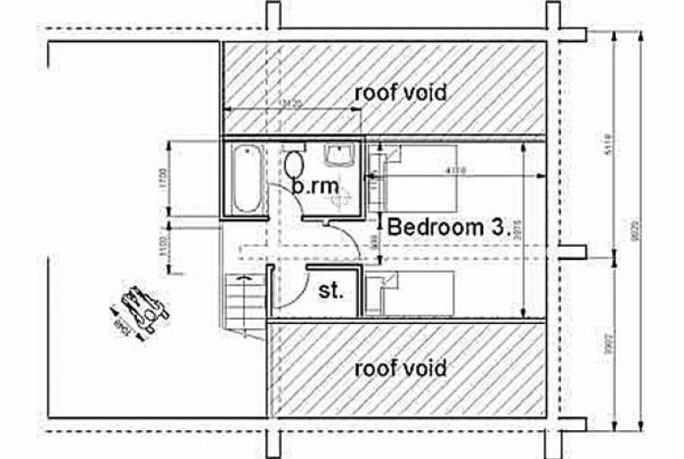 Floor layout cottage for disabled