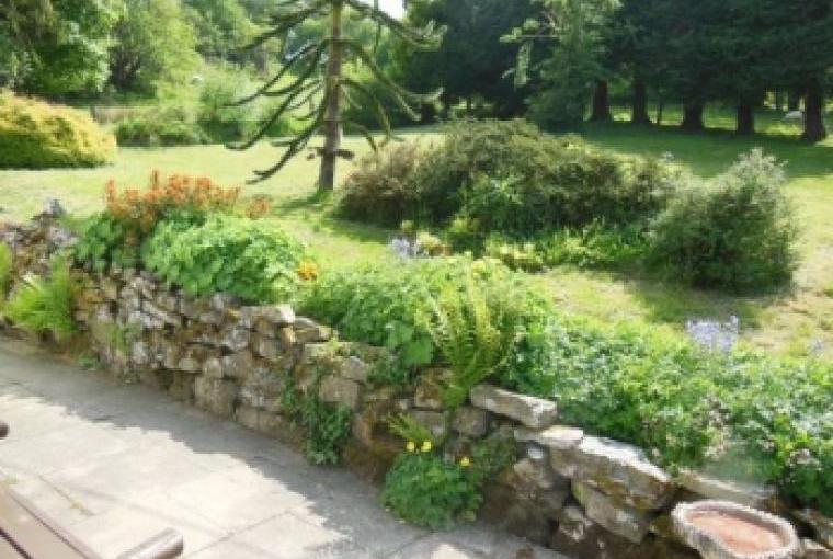 Ty Gwyn Cottage rear garden