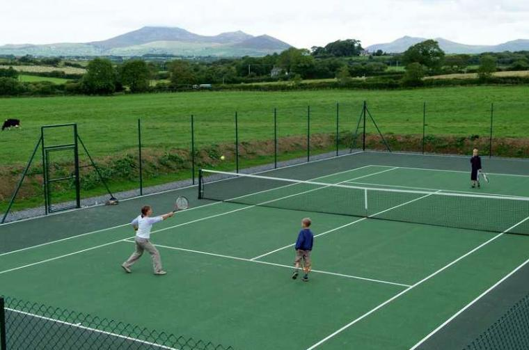 celf catered accommodation wales tennis court