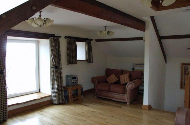 self-catering holiday north wales Crafnant Cottage spacious living area