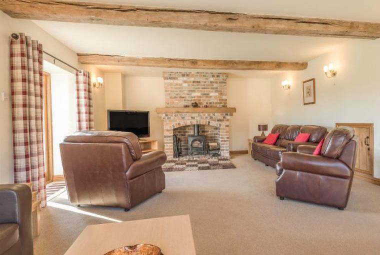 Spacious lounge at Glebe Barn