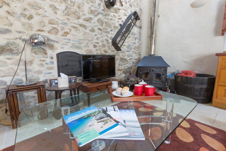 Sitting area in holiday cottage near Haverfordwest, Pembrokeshire