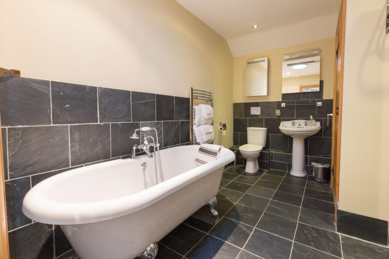Luxurious bathroom upstairs
