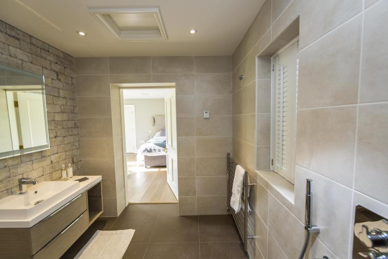 Ultra modern bathroom in this Herefordshire country holiday home