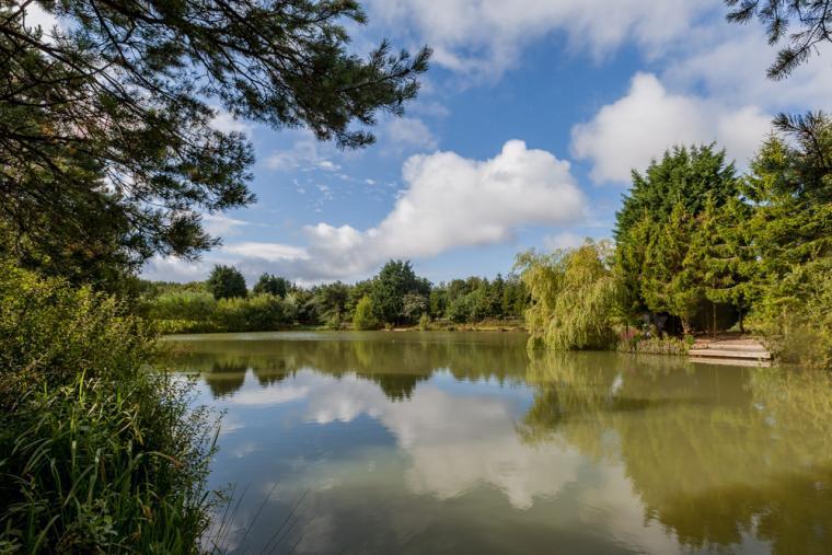 The Carp fishing lake, Lakeview lodge, Melton Mowbray, Leicestershire.
