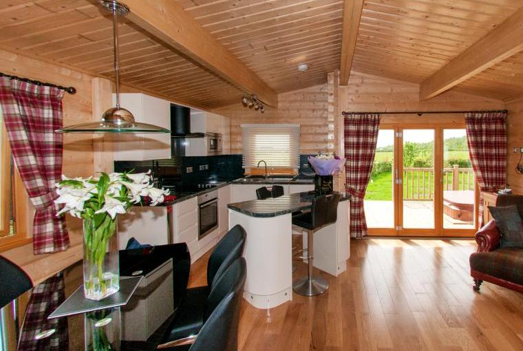 The High Quality Open Plan Lodge Living Area