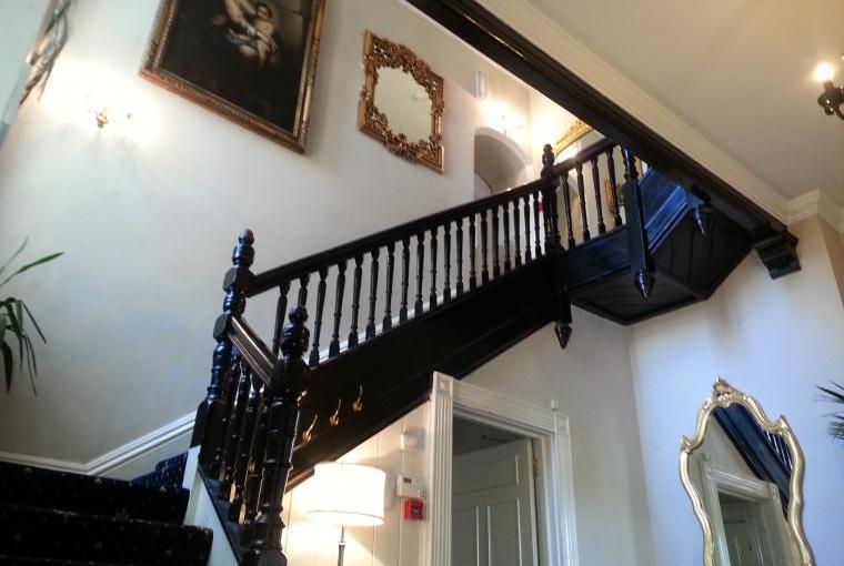 hallway at the mansion