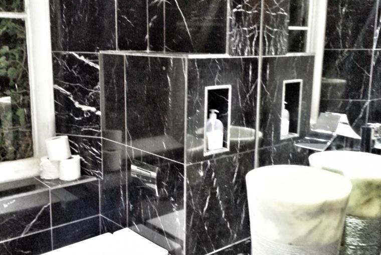 marqina Marble Bathrooms at The mansion