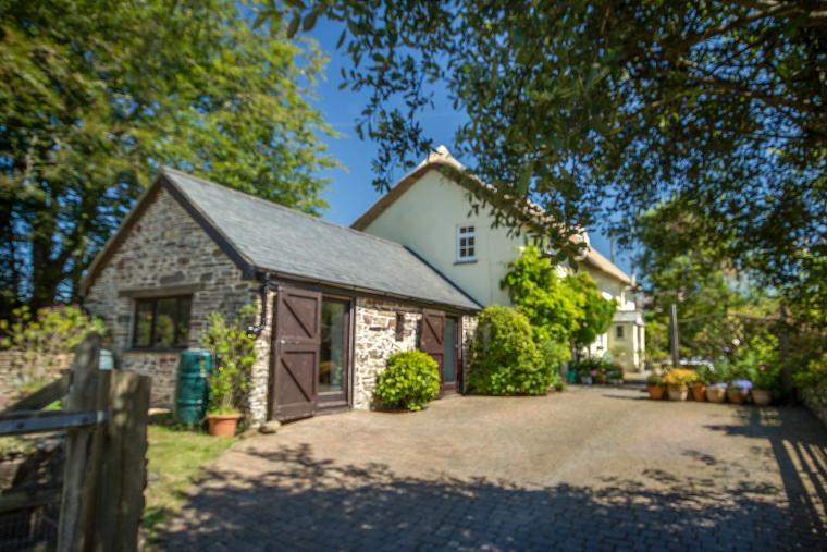 The Drive with ample parking space, Games Room and Cottage