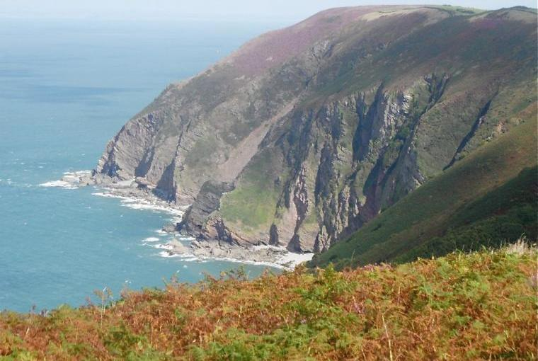 Dramatic Cliff tops at Trentishoe in North Devon