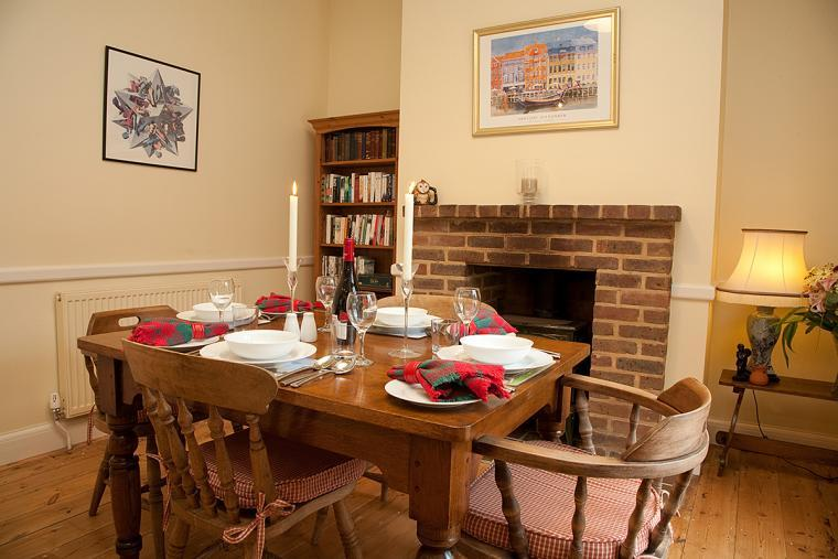 Dining Area with Warming Woodburner
