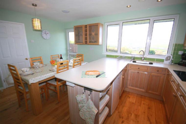 Open plan kitchen at Dog friendly holiday home