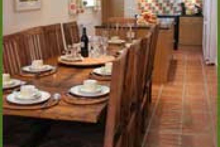 Farmhouse rental kitchen with aga