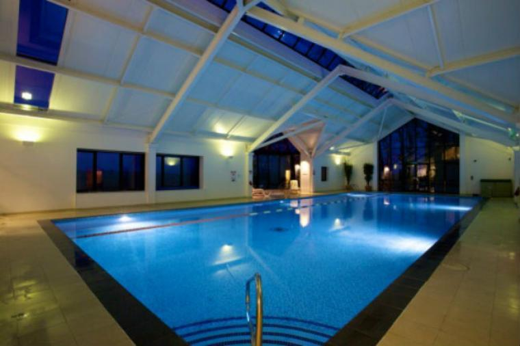 The larrge Swimming pool at nearby Highbullen Hotel Golf and Country Club