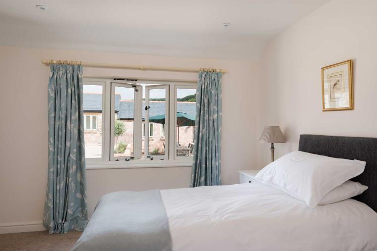 Luxurious bedrooms at Langford Valley Barn