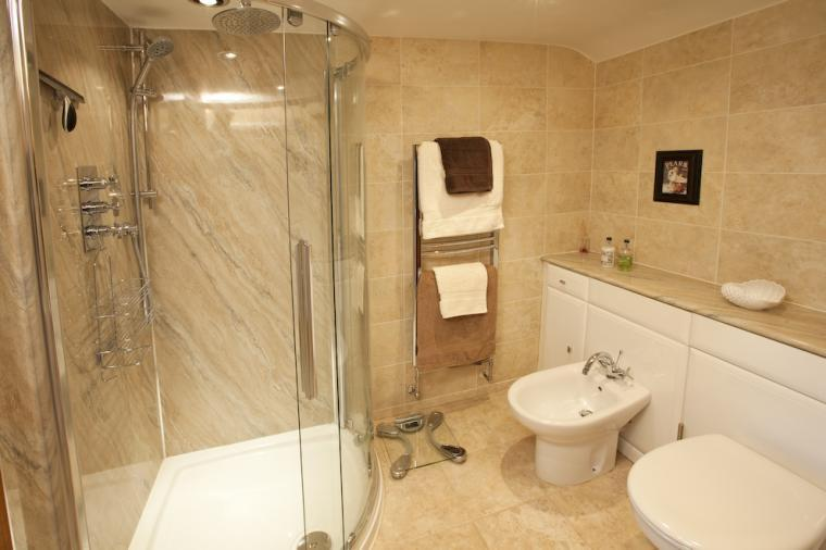One of the luxurious bathrooms
