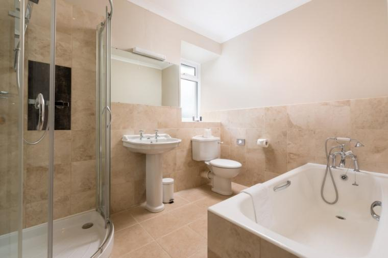 Luxury family bathroom with shower and bath