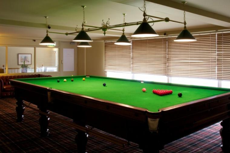 Games room at Highbullen Country Club