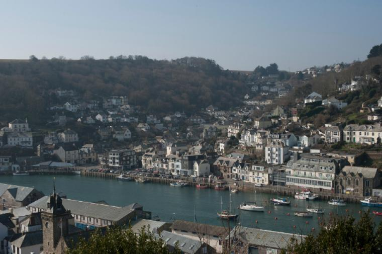 View of Looe harbour and East Looe river