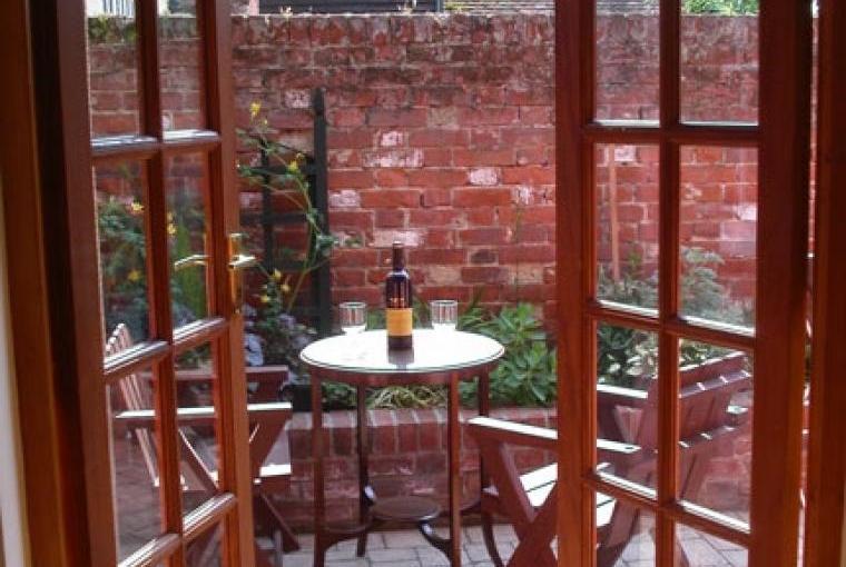 private patio for al fresco dining