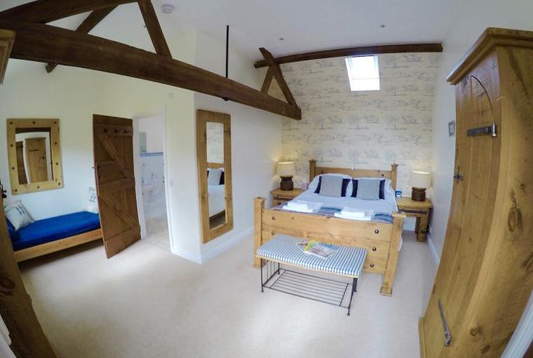 The bedroom at Trinity Cottage