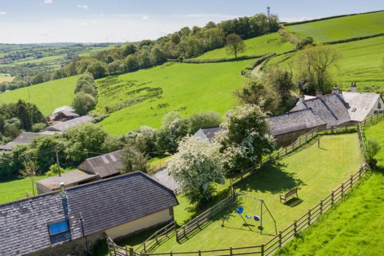 Idyllic Countryside Setting on a Farm