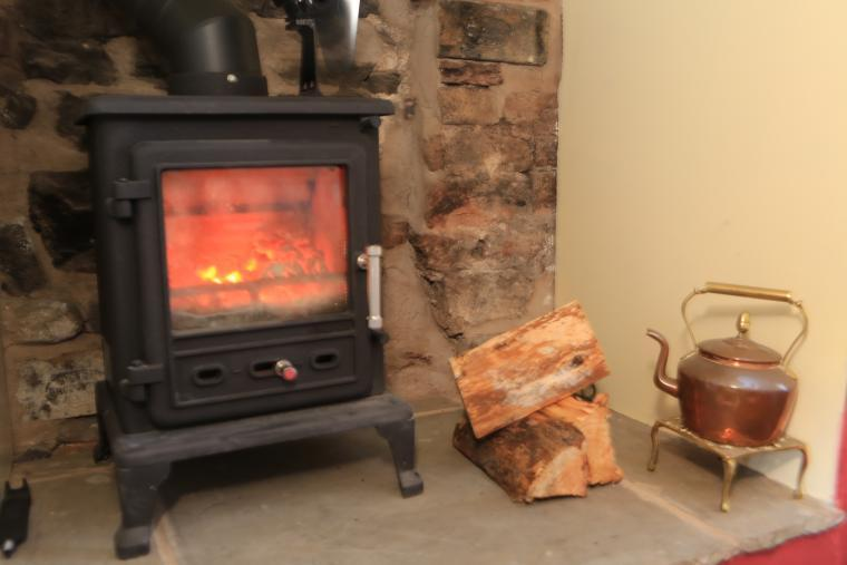 The cosy Log Burner