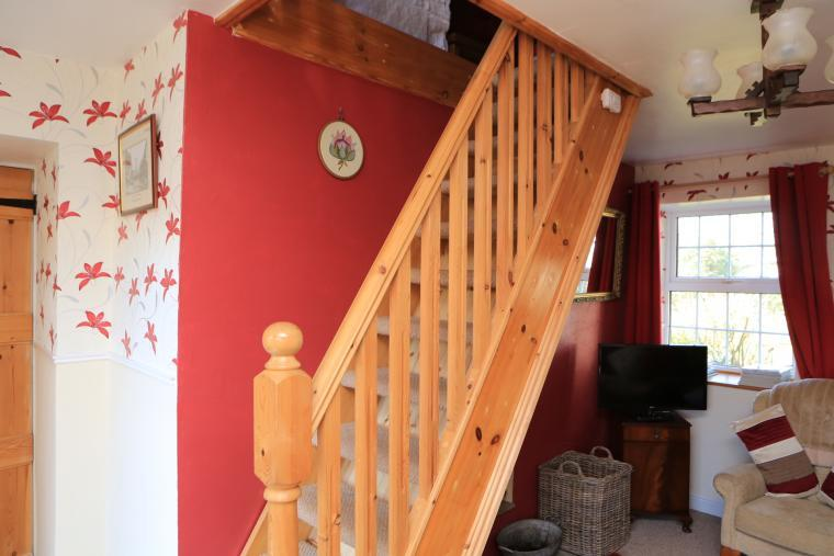 The Steep stairs to the bedroom