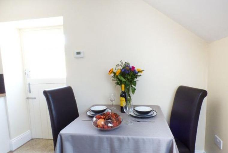 Dining area for 2, Hayloft Couple's Barn Apartment, Pembrokeshire, Wales