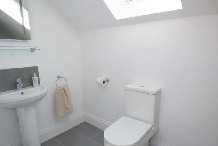 Bathroom, Hayloft Couple's Barn Apartment, Pembrokeshire, Wales
