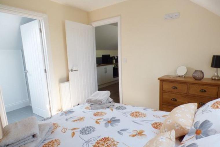 Bedroom, Hayloft Couple's Barn Apartment, Pembrokeshire, Wales