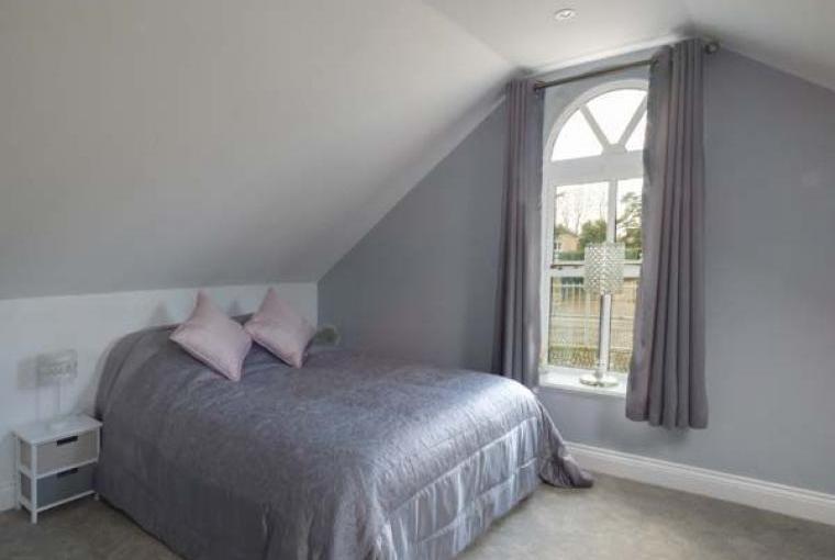 Romantic double bed