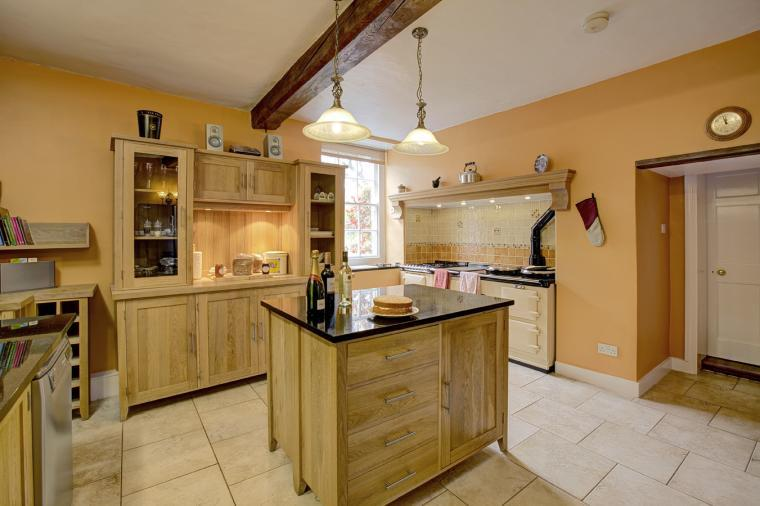 The Aga Kitchen with oak units