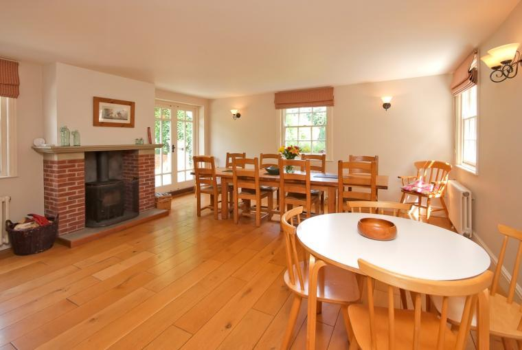 Spacious dining room at Ludlow Manor House