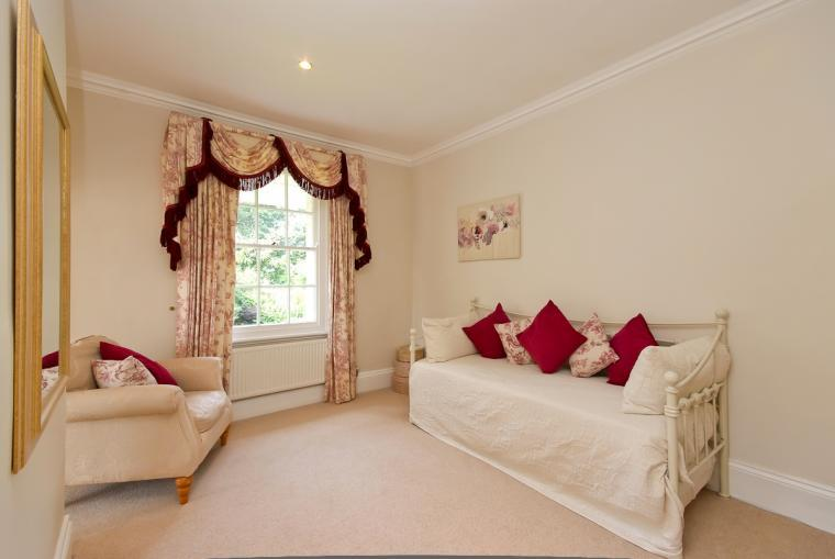Day beds as part of the Master suite at Ludlow Manor House