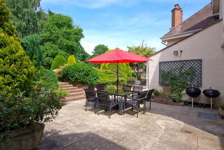 Patio and Barbecue area at Ludlow Manor House